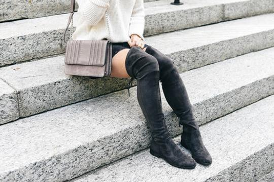 Dolce Vita Faux Suede Over The Knee Tall Stretch Onm003 black Boots Image 10