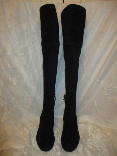 Dolce Vita Faux Suede Over The Knee Tall Stretch Onm003 black Boots Image 2