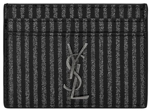 Saint Laurent NEW SAINT LAURENT YSL STRIPED CARD CASE WALLET ID NWT BOX