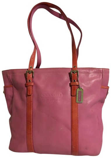 Preload https://img-static.tradesy.com/item/25638618/coach-handbag-pink-leather-tote-0-1-540-540.jpg
