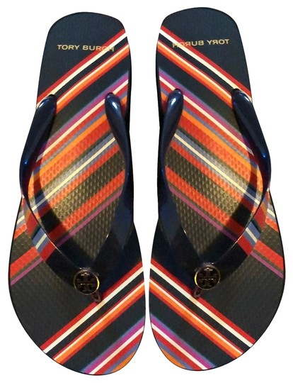 Preload https://img-static.tradesy.com/item/25638631/tory-burch-navy-blue-mostly-and-featuring-multicolor-stripes-vivid-flip-flops-sandals-size-us-10-reg-0-1-540-540.jpg