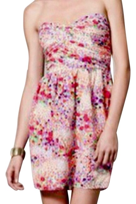 Preload https://img-static.tradesy.com/item/25638658/shoshanna-multicolor-silk-ruched-sweetheart-bodice-short-casual-dress-size-6-s-0-1-650-650.jpg