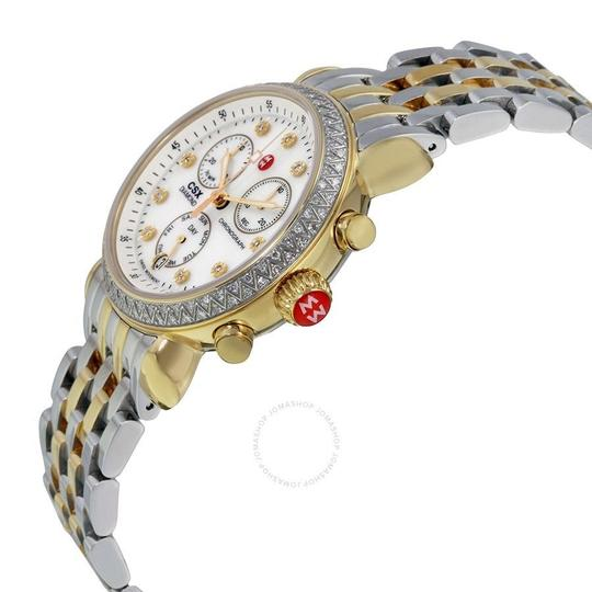 Michele CSX Two Tone Stainless Mother of Pearl Diamond Dial MWW03M000158 Image 1