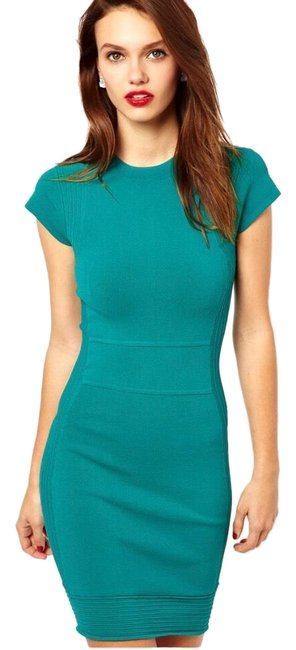 Preload https://img-static.tradesy.com/item/25638680/french-connection-teal-bnwt-short-workoffice-dress-size-2-xs-0-1-650-650.jpg