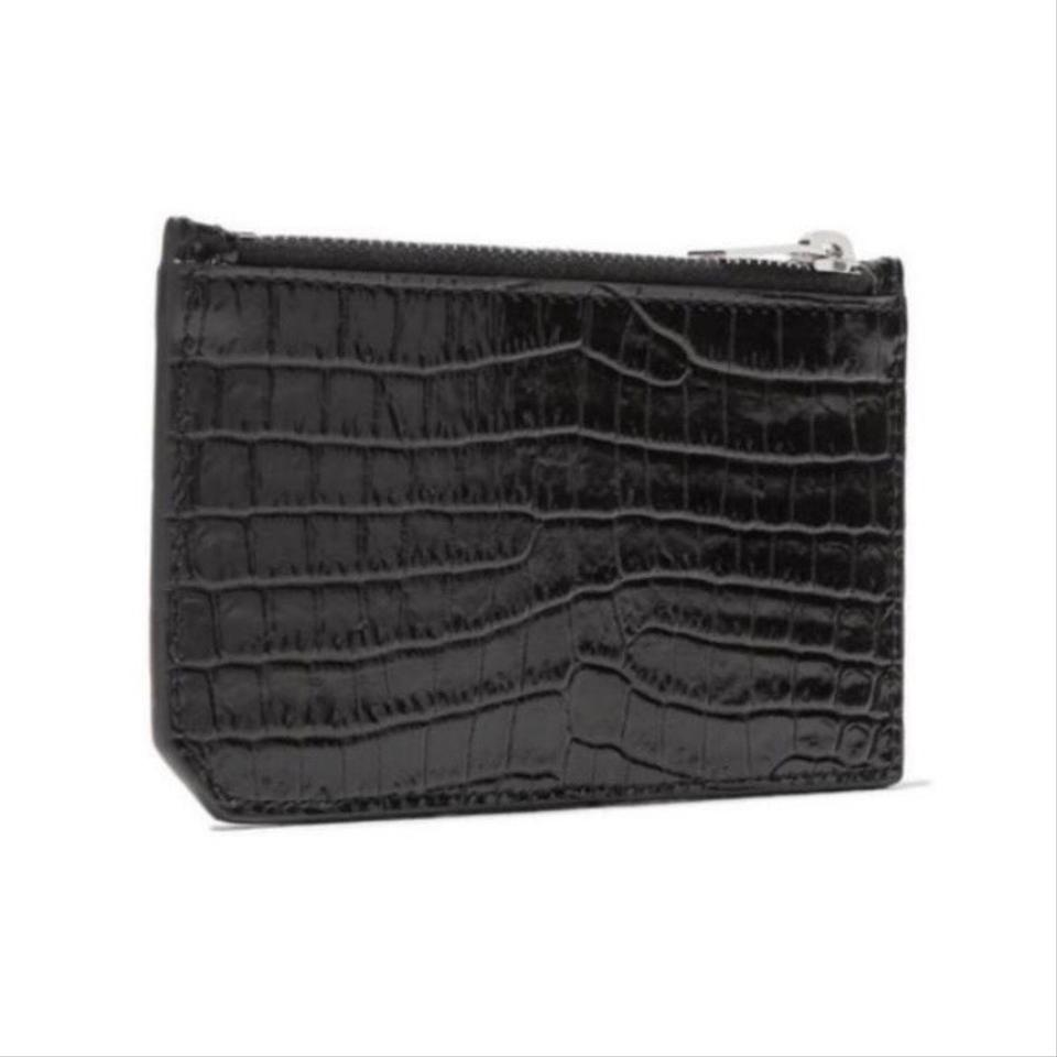 9daa908d104 Saint Laurent Crocodile Embossed Leather Card Holder Wallet - Tradesy