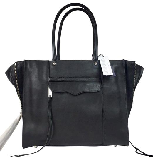 Preload https://img-static.tradesy.com/item/25638732/rebecca-minkoff-new-mab-top-handbag-black-leather-satchel-0-1-540-540.jpg