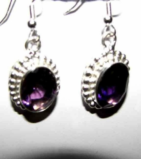 Other Amethyst in Sterling silver dangle earrings Image 1