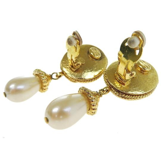 Chanel Auth CHANEL CC Imitation Pearl Earrings Clip-On Accessory France Image 1