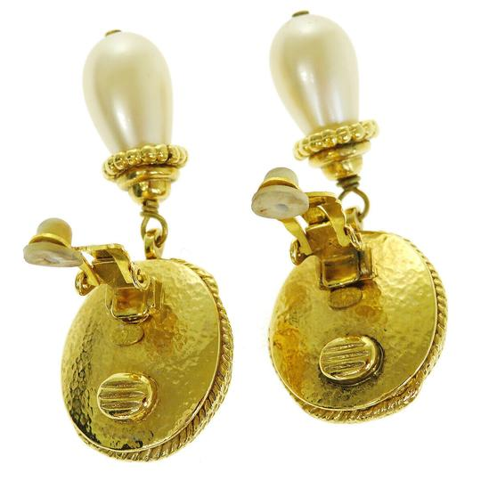 Chanel Auth CHANEL CC Imitation Pearl Earrings Clip-On Accessory France Image 2