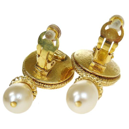 Chanel Auth CHANEL CC Imitation Pearl Earrings Clip-On Accessory France Image 3