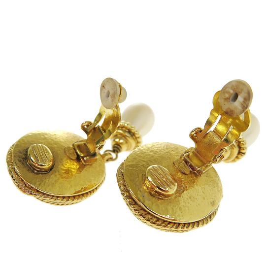 Chanel Auth CHANEL CC Imitation Pearl Earrings Clip-On Accessory France Image 5