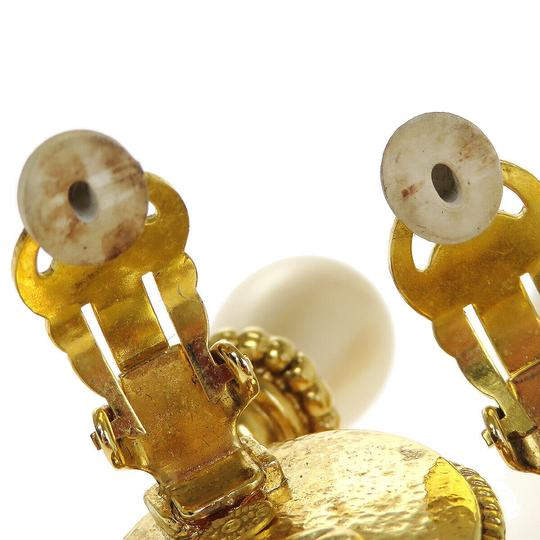 Chanel Auth CHANEL CC Imitation Pearl Earrings Clip-On Accessory France Image 6