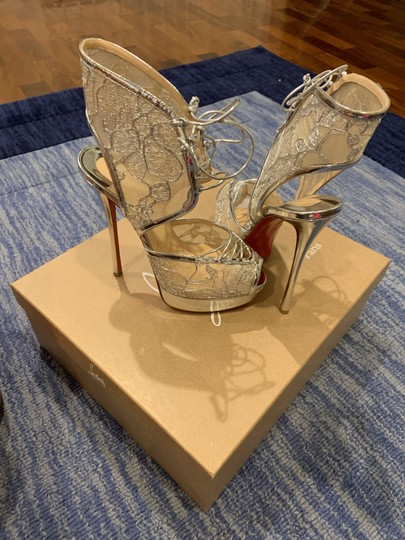 Christian Louboutin Hell 150mm Silver - Metallic Platforms Image 2