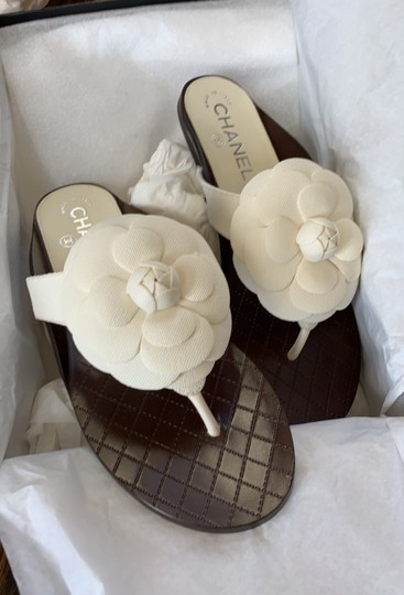 Chanel white Sandals Image 9