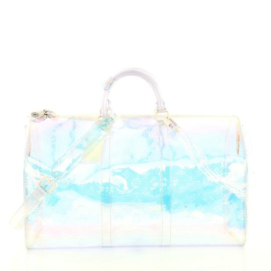 Preload https://img-static.tradesy.com/item/25638913/louis-vuitton-keepall-bandouliere-limited-edition-monogram-prism-50-clear-pvc-weekendtravel-bag-0-0-540-540.jpg