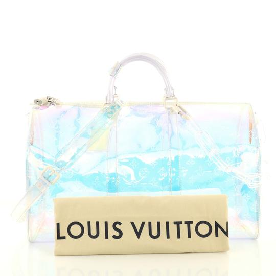 Louis Vuitton Keepall Limited Edition Monogram Prism Pvc clear Travel Bag Image 1
