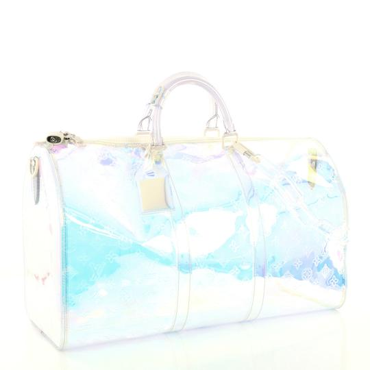 Louis Vuitton Keepall Limited Edition Monogram Prism Pvc clear Travel Bag Image 2