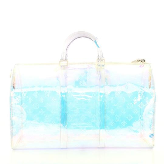 Louis Vuitton Keepall Limited Edition Monogram Prism Pvc clear Travel Bag Image 3