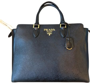 Prada Briefcase Saffiano Leather Work Shoulder Bag
