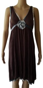 Free People short dress Brown Embroidered Swing Jersey Vintage Ombre on Tradesy