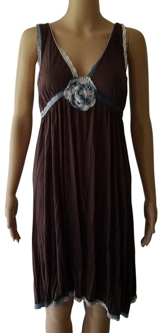 Item - Brown Ombre Lace Up Swing Short Casual Dress Size 8 (M)