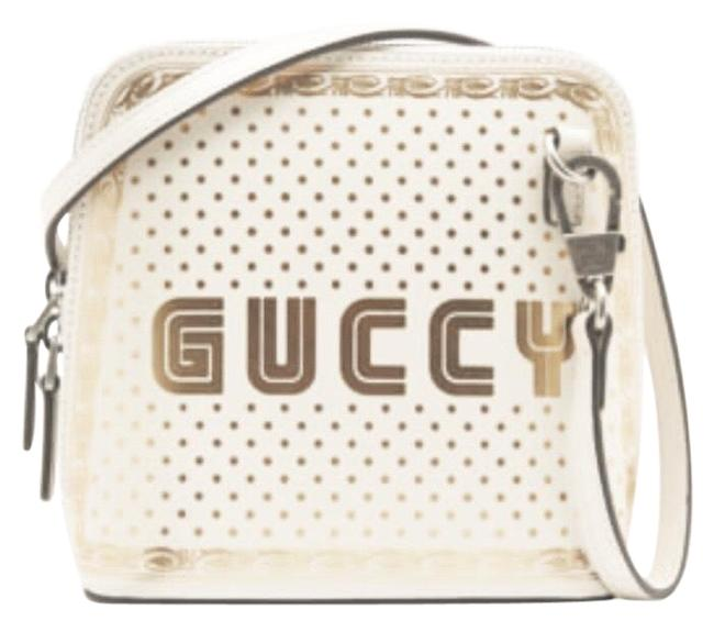 Gucci #511189 Moon Steller White/Gold Leather Cross Body Bag Gucci #511189 Moon Steller White/Gold Leather Cross Body Bag Image 1
