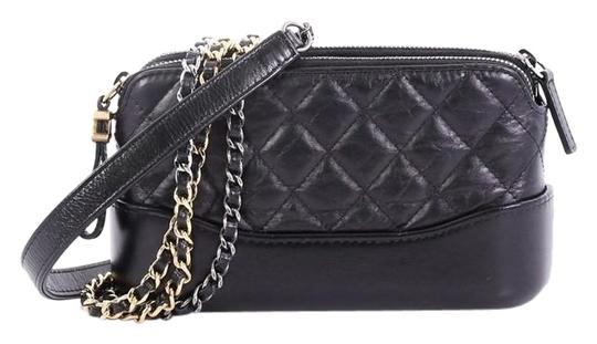 Preload https://img-static.tradesy.com/item/25639565/chanel-gabrielle-double-zip-with-chain-quilted-aged-black-calfskin-leather-clutch-0-1-540-540.jpg