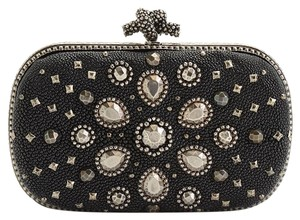 Bottega Veneta Embellished Black Clutch