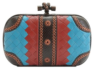 Bottega Veneta Blue/Red/Brown Clutch