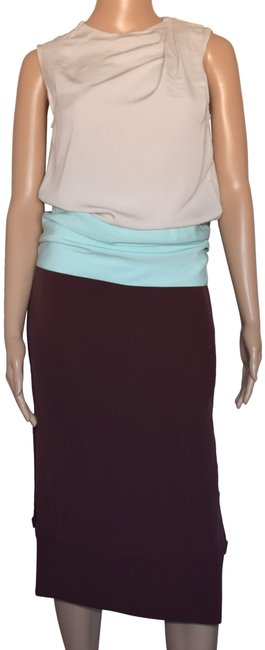 Item - Multi-color Sleeveless Color Block Mid-length Cocktail Dress Size 2 (XS)