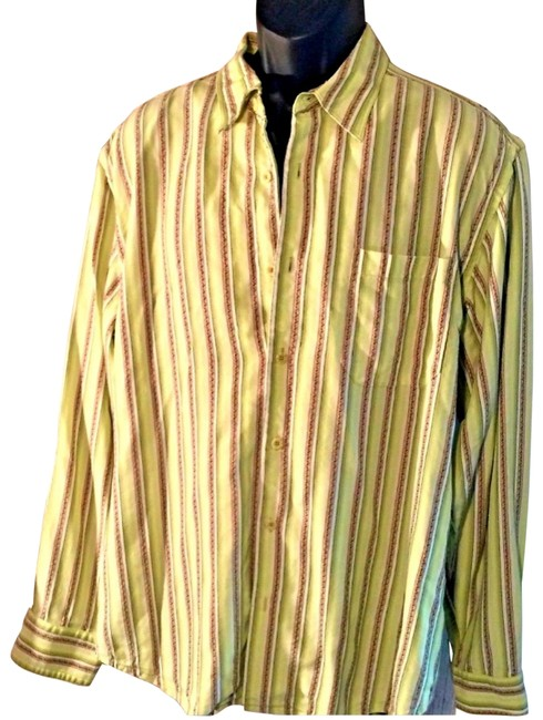 Tommy Bahama Avocado Green L ..mens Button-down Top Size OS (one size) Tommy Bahama Avocado Green L ..mens Button-down Top Size OS (one size) Image 1