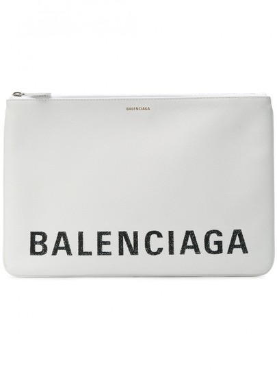 Preload https://img-static.tradesy.com/item/25640628/balenciaga-ville-zip-pouch-white-clutch-0-0-540-540.jpg