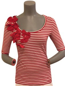Sinclaire 10 T Shirt red white striped