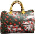 Louis Vuitton Speedy Palm Springs Limited Edition Jungle Rare Satchel in Monogram Pink Red