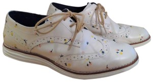 Cole Haan Oxford Leather Floral White Flats