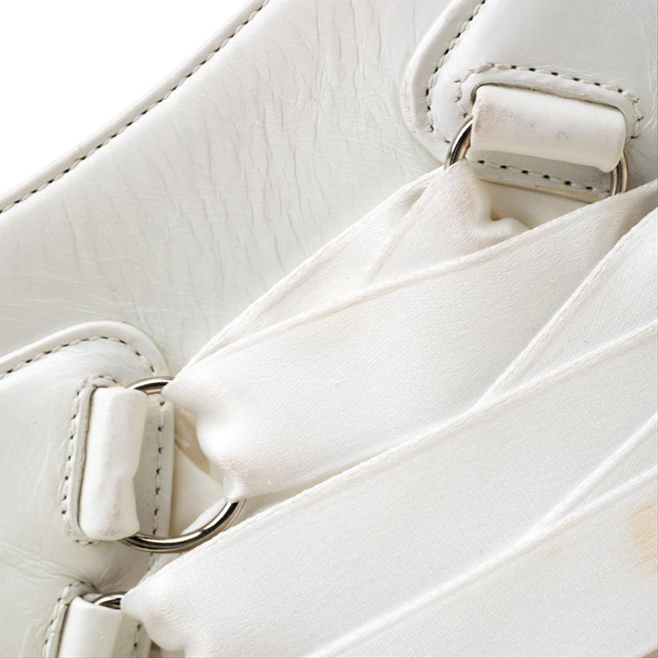 cb84f4f9 Dior And Fabric Corset Ballet White Leather Shoulder Bag 33% off retail