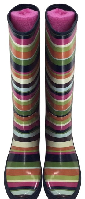 Item - Multi Colored Pammie Striped Rainboot M Boots/Booties Size US 6 Regular (M, B)