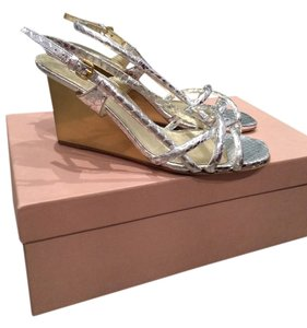 Miu Miu Silver with gold Sandals