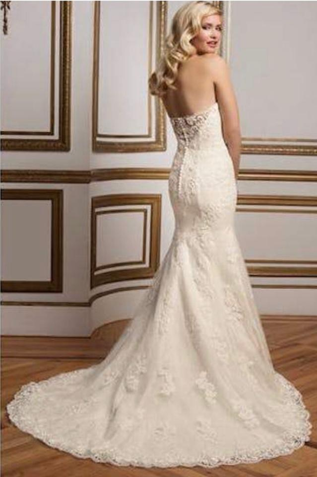 Fit And Flare Wedding Dress.Justin Alexander Ivory And Gold Plunging Sweetheart Fit Flare Bridal Gown Sexy Wedding Dress Size 14 L 69 Off Retail