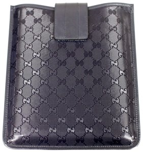 Gucci GUCCI GG Document/iPad/Tablet Case Navy Blue Imprime 256575 4009