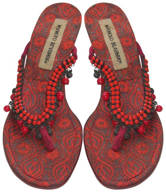 Item - Red Pirromu Sandals Size EU 36 (Approx. US 6) Regular (M, B)