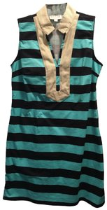 Sail to Sable short dress Navy and Teal with Gold trim on Tradesy
