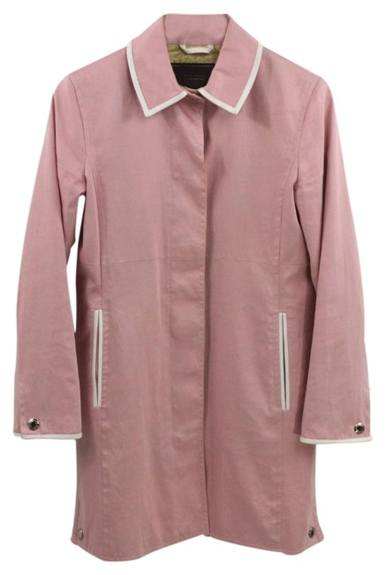 Item - Pink Leather Trim #169-8 Coat Size 4 (S)