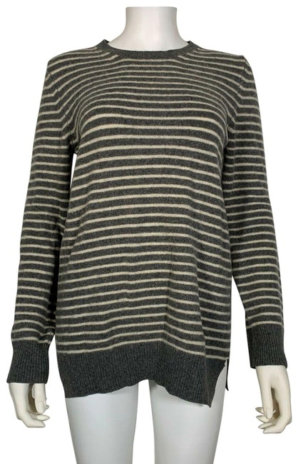 Item - Wool Mohair White Stripes M Gray Sweater