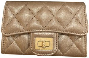Chanel 17A Chanel Reissue 2.55 Flap Card Holder O-Case Wallet Bronze Gold