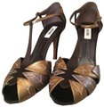 Moschino brown multi Sandals