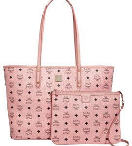 MCM Summer Logo Tote in Soft pink