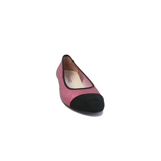 Item - Pink Black Sequins Grosgrain Pumps Size EU 38 (Approx. US 8) Regular (M, B)