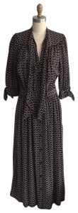 blk/crm Maxi Dress by Mayle