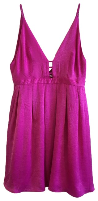 Free People Pink Raspberry Spaghetti Strap Mid-length Cocktail Dress Size 8 (M) Free People Pink Raspberry Spaghetti Strap Mid-length Cocktail Dress Size 8 (M) Image 1